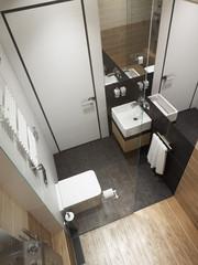 modern bathroom interior, 3d rendering