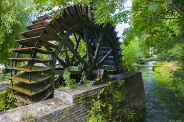 Fotobehang Molens Watermill in Veules-les-Roses - Normandy (France)