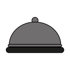 silver covered platter icon image vector illustration design