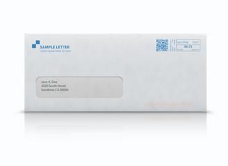 Closed white envelope