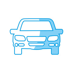 car icon over white background vector illustration