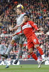 Middlesbrough v Liverpool Barclays Premier League