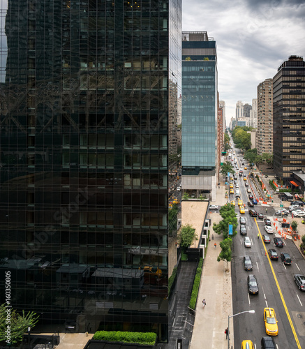 High Angle View Of New York City Roads And Buildings New York Usa
