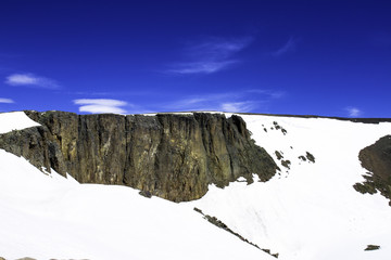 Lava Cliffs above the tree line off Trail Ridge Road in Rocky Mountain National Park