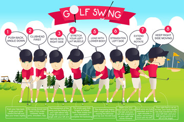 Golf Swing Instruction Infographic