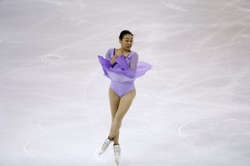 Asada of Japan performs during the ladies free program at the ISU Grand Prix of Figure Skating final in Barcelona, Spain