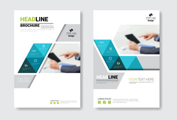 Template Design Brochure Set, Annual Report, Magazine, Poster, Corporate Presentation, Portfolio, Flyer Collection With Copy Space Vector Illustration