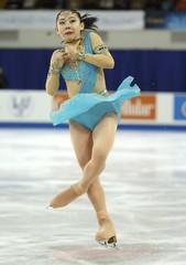 Miyu Nakashio of Japan performs during the ladies' free skating program at the Skate America figure skating competition in Milwaukee