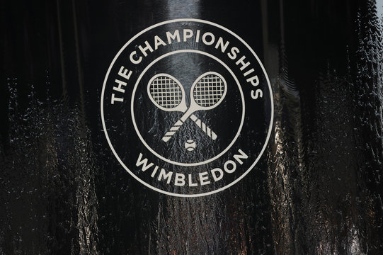 General view of the Wimbledon logo