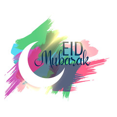 abstract eid mubarak background with ink strokes