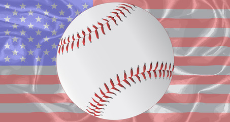 Silk Stars and Stripes Baseball