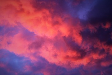 An Image of a red sky