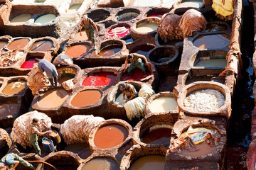 in morocco africa the antique tannery