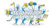 Stick Figure Series Blue / Teamwork, Teambuilding, Business