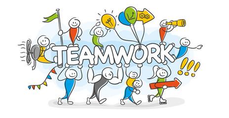 Stick Figure Series / Teamwork, Freundschaft, Ziele