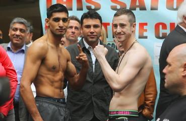 Amir Khan & Paul McCloskey Weigh-In