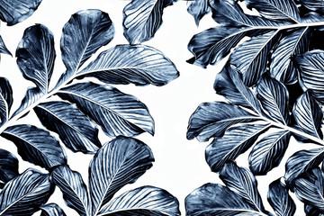 Botanical leaves pattern,green leaf tropical pattern,textile design
