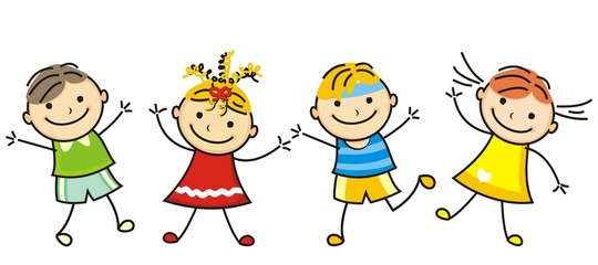 jumping kids, vector icon, line