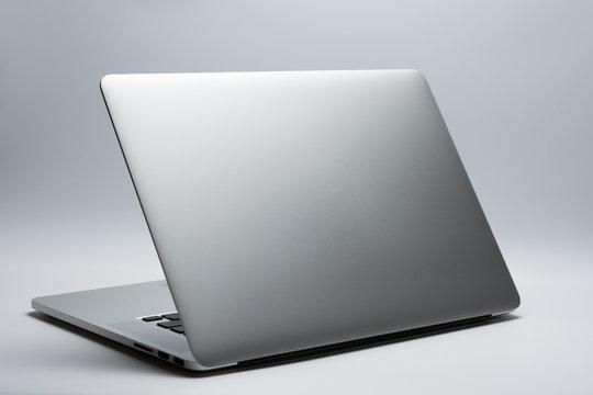Back side of laptop computer