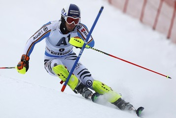 Dopper of Germany skis during the men's Alpine Skiing World Cup slalom in Kitzbuehel