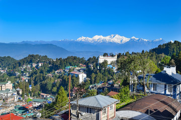 kanchenjunga view from Darjeeling city