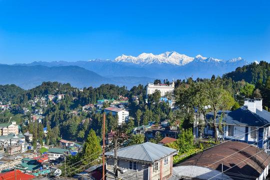 kanchenjunga view from Darjeeling city
