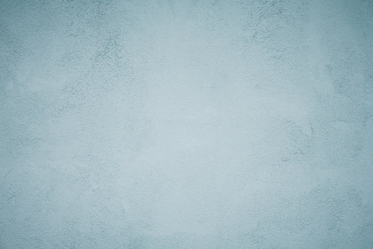 Grunge Decorative Faded Blue Plaster Background