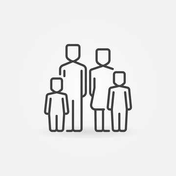 Family with two children icon