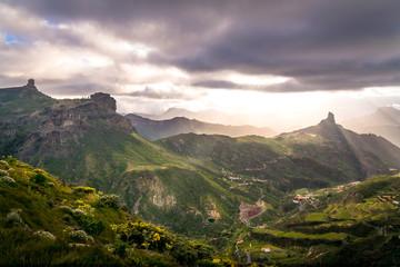 In de dag Zwart Mountains landscape