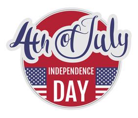 4 of july Independence Day. Star stripe flag symbol usa