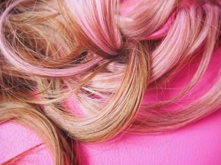 Pink hair background
