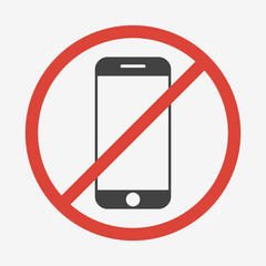 No mobile phone sign. Vector illustration.