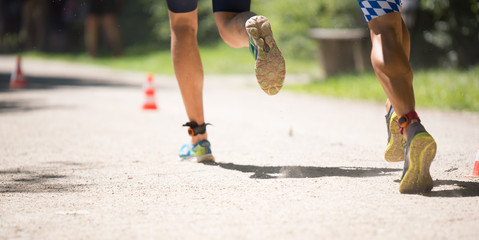 Tiathlon - Laufen - Joggen - Wettkampf