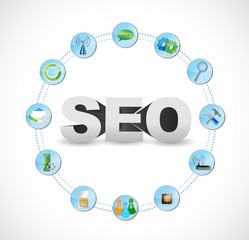 seo technology circle tools illustration