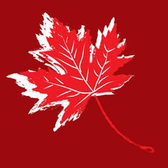 Distressed Maple Leaf