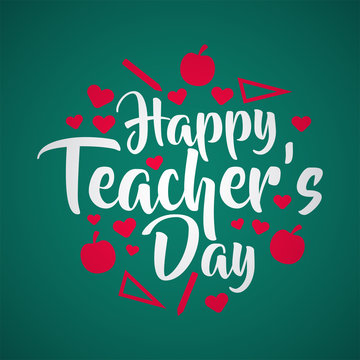 lettering happy teachers day