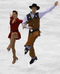 Samuelson and Bates of the U.S. perform during the ice dance original dance figure skating competition at the Vancouver 2010 Winter Olympics