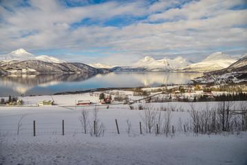 Beautiful mountains scenery. Northern Europe. Scandinavia