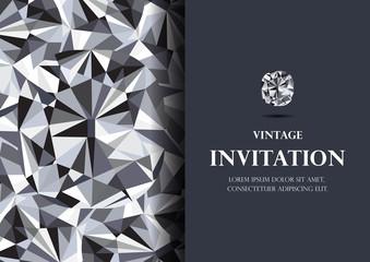 invitation card diamond background vector