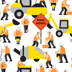 Road work vector pattern