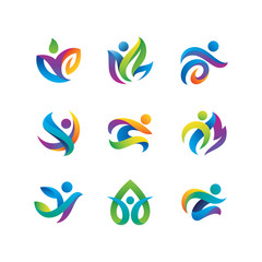 People Activity Logos Set