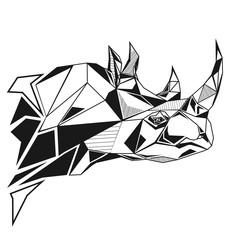 Rhinoceros stylized triangle polygonal model