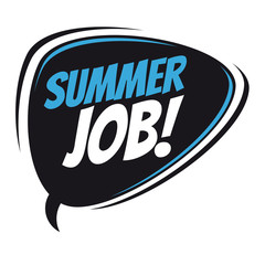 summer job retro speech balloon