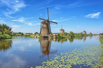The beautiful Dutch windmills at Kinderdijk