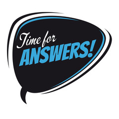 time for answers retro speech balloon