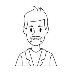 man avatar profile picture people vector illustration