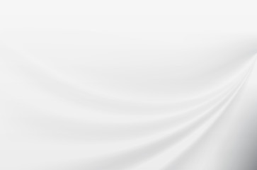 Abstract white smooth motion background. Vector Illustration