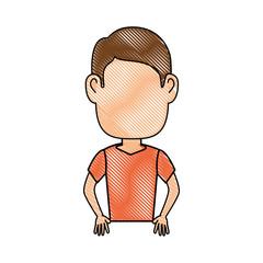 Guy cartoon profile icon vector illustration graphic design