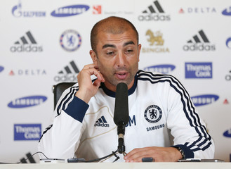 Chelsea manager Roberto Di Matteo during the press conference