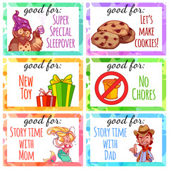 Printable kids coupons to use as a gift.
